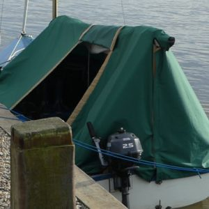 """The newest of our """"fleet"""" of tents, pictured at Geldeston, Norfolk."""