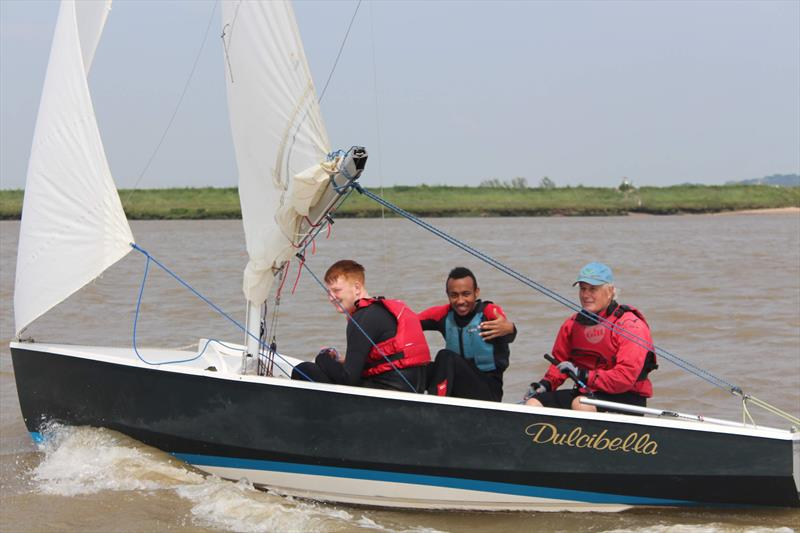 Photo of teens in Wayfarer near Aldeburgh